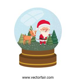 santa claus in crystal ball avatar character
