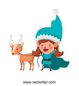 elf woman with reindeer avatar character