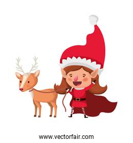 elves woman with reindeer avatar character