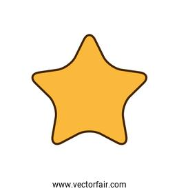 golden star isolated icon