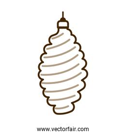 christmas ball decoration hanging isolated icon