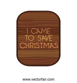 rectangle on wooden with christmas message