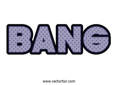 bang comic words isolated icon