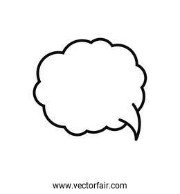 speech bubble in comic isolated icon