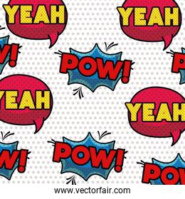 speech bubble with words comic pattern