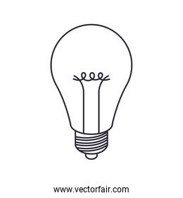 light bulb off isolated icon