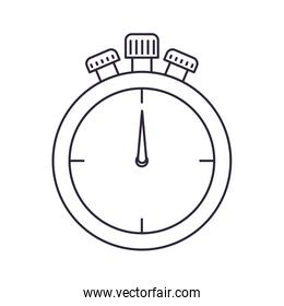 stopped stopwatch isolated icon
