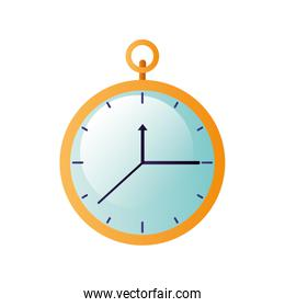 clock with hour isolated icon