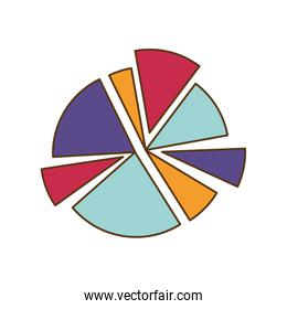 pie chart isolated icon