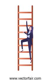 businesswoman with stair avatar character