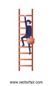 businessman with stair avatar character