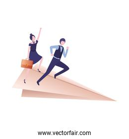 couple in paper airplanes avatar character