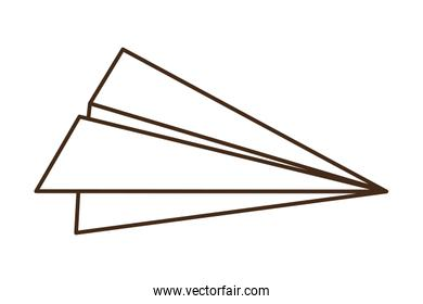 paper plane isolated icon