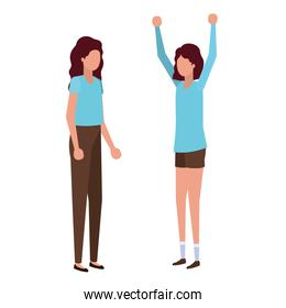 young women standing avatar character