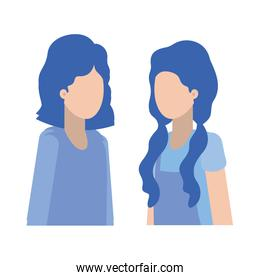 young women avatar character