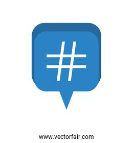 speech bubble with numeral isolated icon