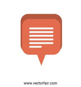 speech bubble with message isolated icon