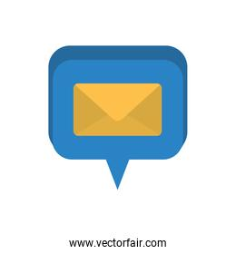 speech bubble with closed letter isolated icon