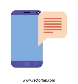 device screen with speech bubble isolated icon