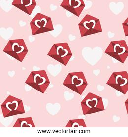 hearts pattern background isolated icon