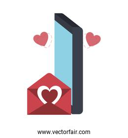 phone screen with hearts avatar character