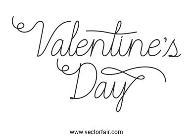 valentines day label isolated icon