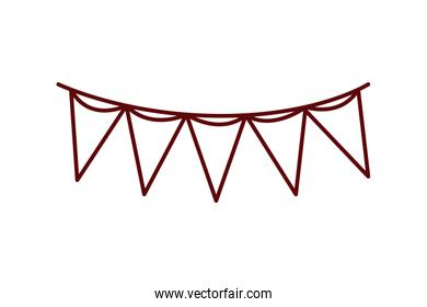 party garland isolated icon