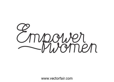 empower women isolated icon