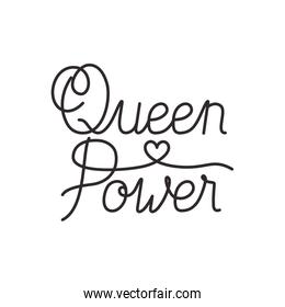 queen power label isolated icon