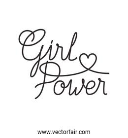 girl power label isolated icon