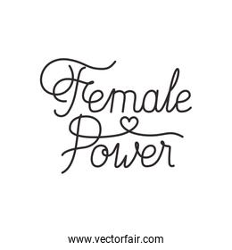 female power label isolated icon