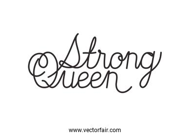 strong queen label isolated icon