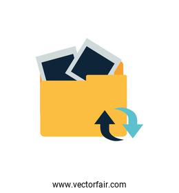 folder with objects isolated icon