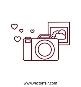 camera with set icons isolated icon