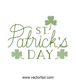 st patricks day label isolated icon