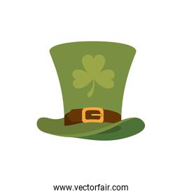 leprechaun hat with clover isolated icon