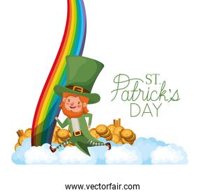 leprechaun standing with coins avatar character