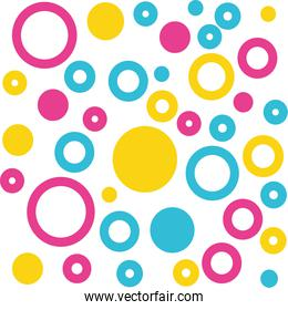 circles colorful pattern background