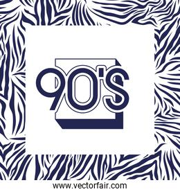 animal print pattern ninetys style with number 90