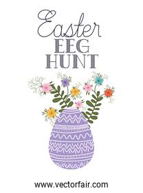 easter eeg hunt label isolated icon
