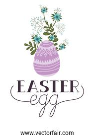 easter egg label isolated icon