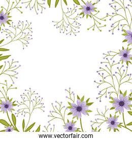 flowers pattern isolated icon