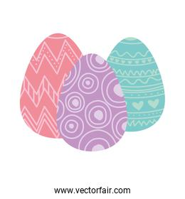 easter eggs isolated icon