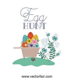 egg hunt label icon isolated