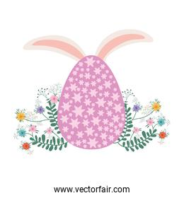 easter egg with rabbit ears isolated icon