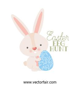 easter egg hunt label isolated icon