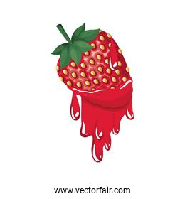 strawberry dripping icon