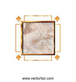 victorian golden with frame icon