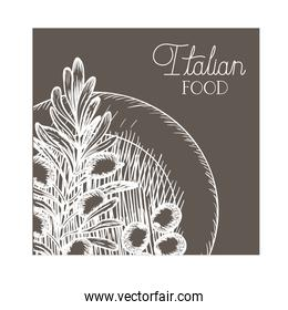 olive flower drawing isolated icon