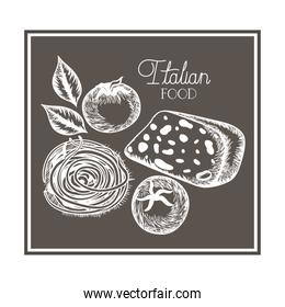 pattern of delicious italian food